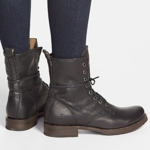 Veronica Frye Lace Up Combat Boots Size 7.5